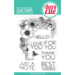 Floral Notes, Avery Elle Clear Stamps - 811568027558
