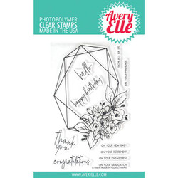 Modern Floral Frame, Avery Elle Clear Stamps - 811568027565