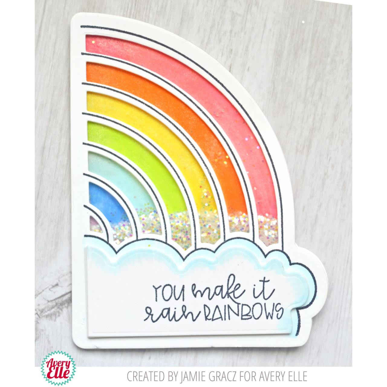 Rainbows, Avery Elle Clear Stamps - 811568027589