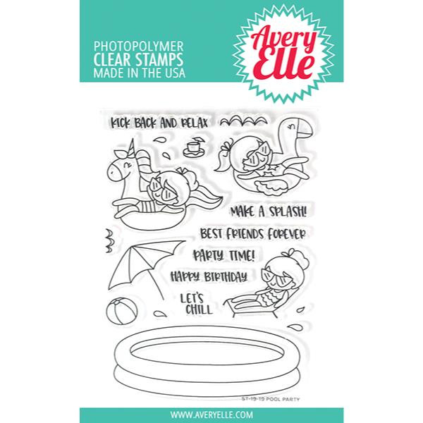 Pool Party, Avery Elle Clear Stamps - 811568027596