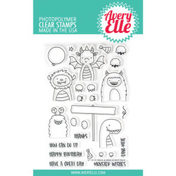 Peek-A-Boo Scary Pals, Avery Elle Clear Stamps - 811568027619