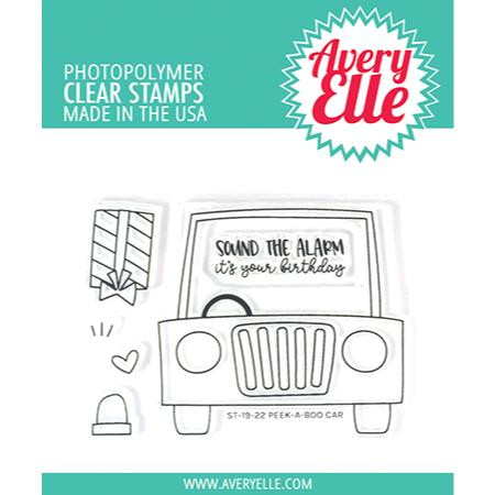 Peek-A-Boo Car, Avery Elle Clear Stamps - 811568027626