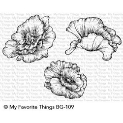 Poppy Blooms, My Favorite Things Cling Stamps - 849923031209
