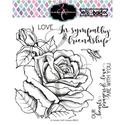 Sympathy & Friendship, Colorado Craft Company Clear Stamps - 857287008423