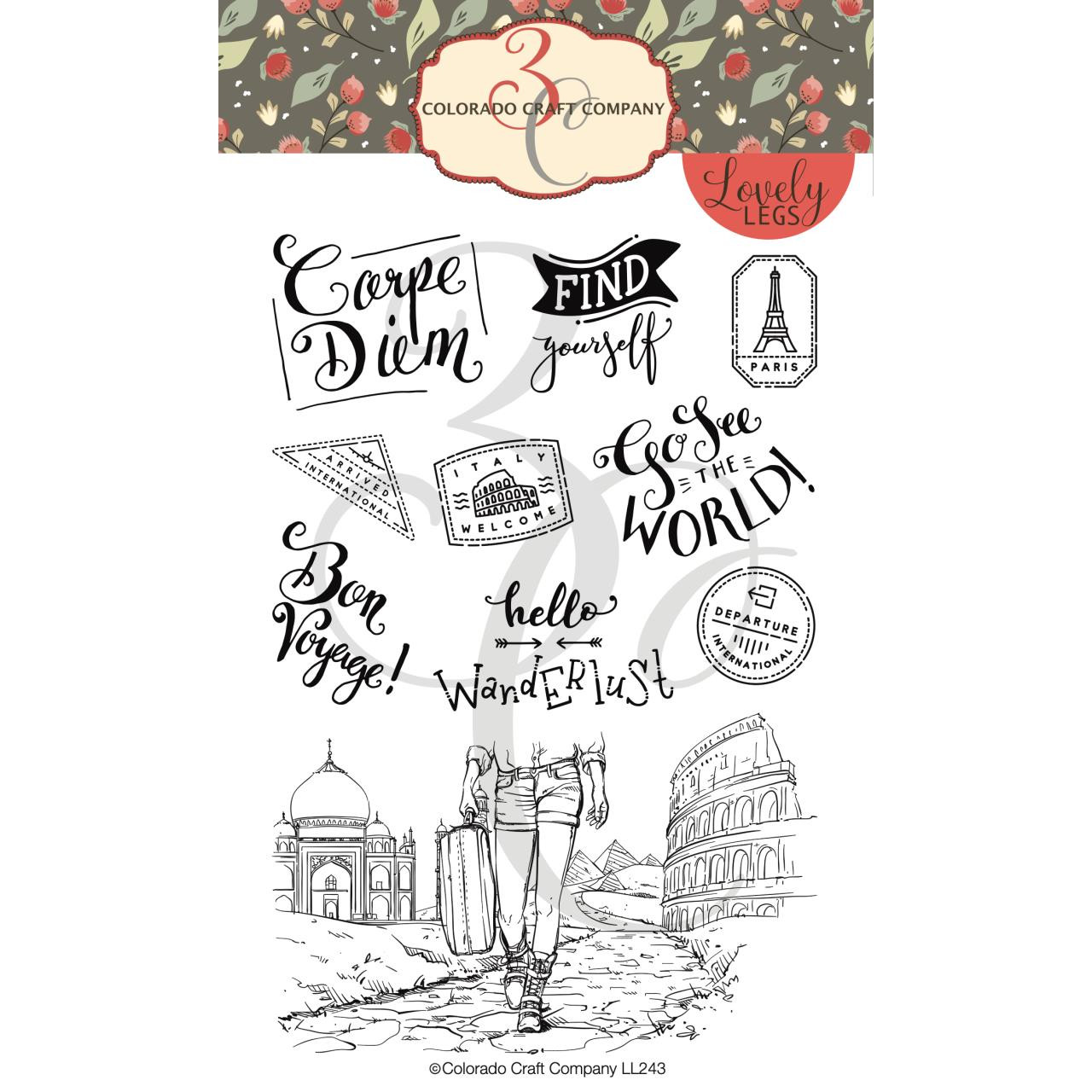 Wanderlust, Colorado Craft Company Clear Stamps - 857287008454
