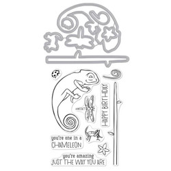 Chameleon, Hero Arts Stamp & Cut - 857009226784