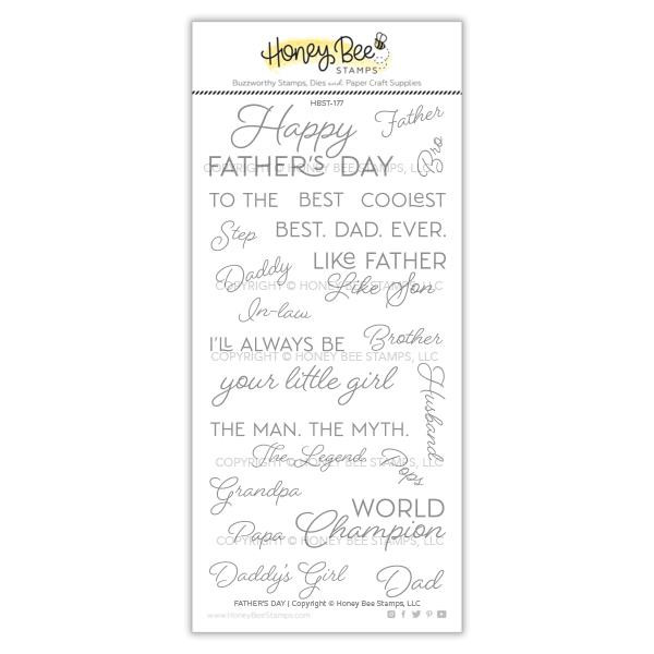 Father's Day, Honey Bee Clear Stamps - 652827599290