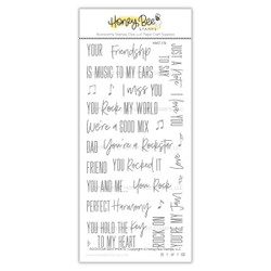 Rockstar Sentiments, Honey Bee Clear Stamps - 652827599313
