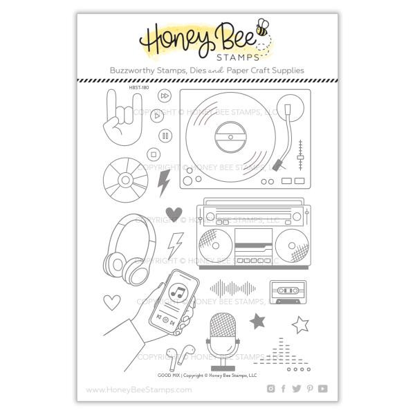 Good Mix, Honey Bee Clear Stamps - 652827599320