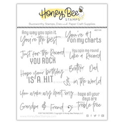 For The Record, Honey Bee Clear Stamps - 652827599337
