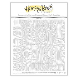 Woodgrain Background, Honey Bee Clear Stamps - 652827599344