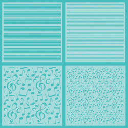 Sheet Music, Honey Bee Stencils - 652827599269