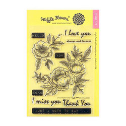 Peony Notes, Waffle Flower Clear Stamps - 644216553327