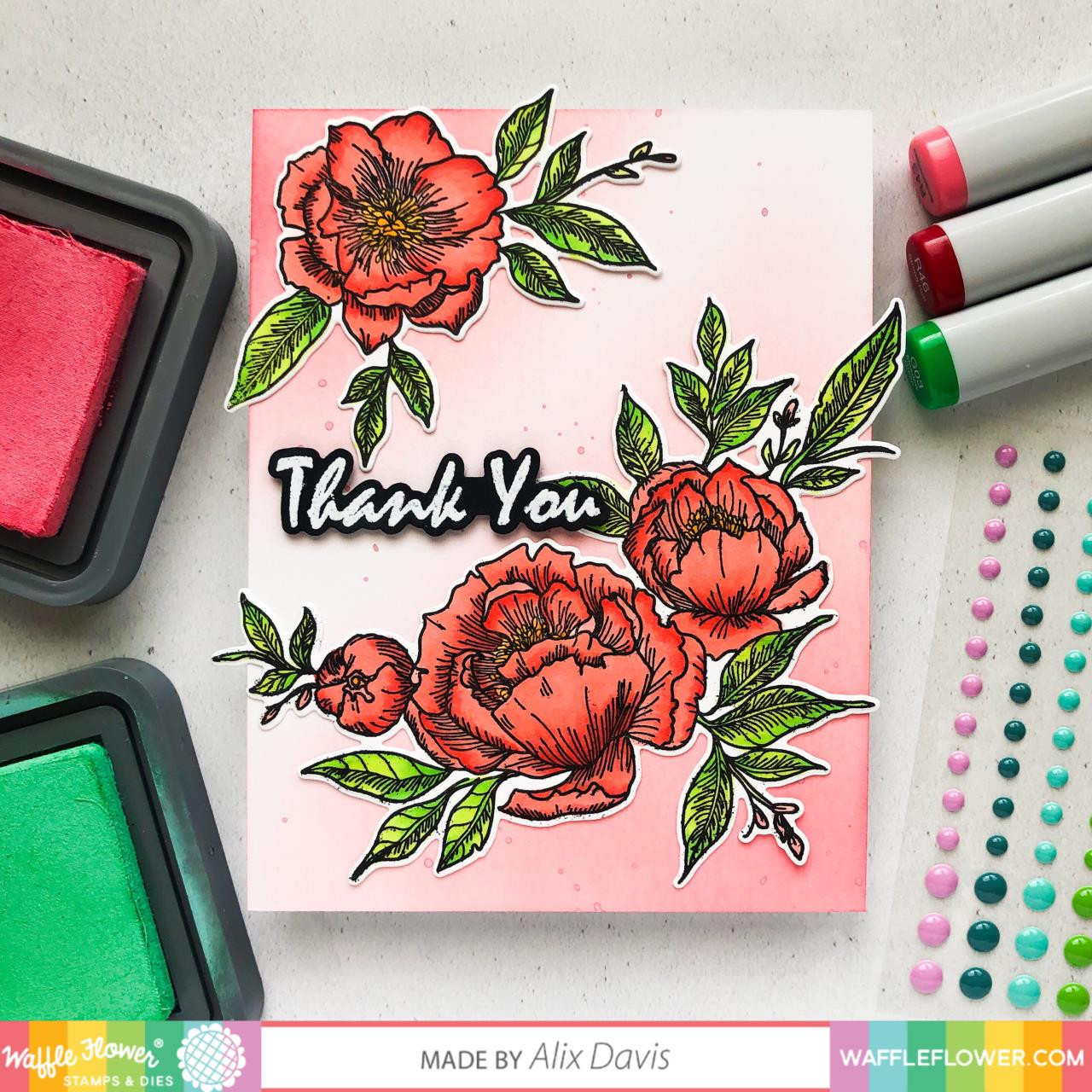 Peony Notes, Waffle Flower Dies - 644216554522