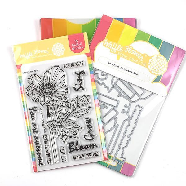 In Bloom, Waffle Flower Stamp & Die Combo - 644216555727