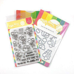 P-arr-ty Time, Waffle Flower Stamp & Die Combo - 644216555925