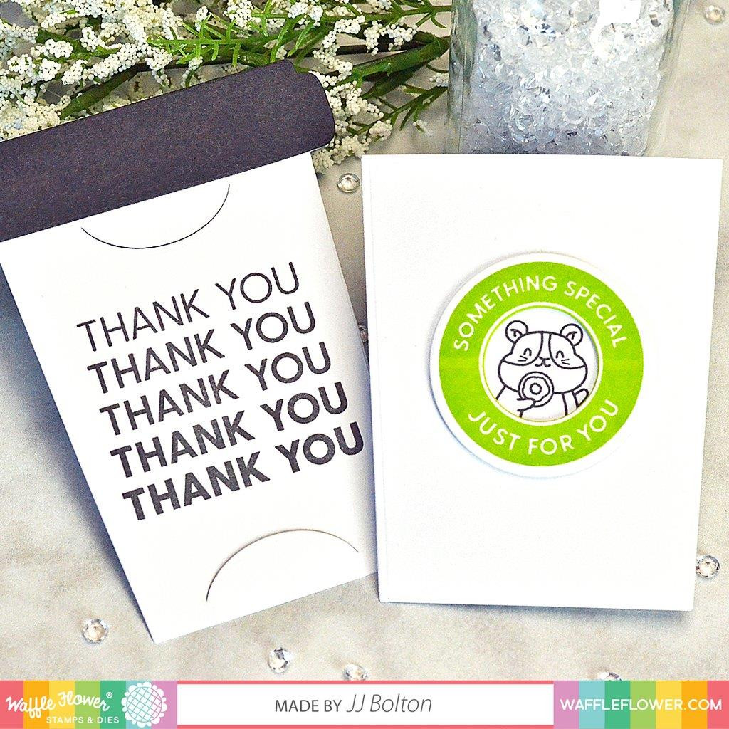 Coffee Cup Sentiments, Waffle Flower Clear Stamps - 644216553723