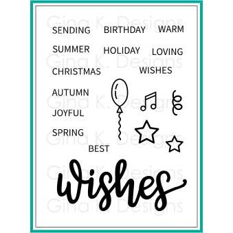 Wishes, Gina K Designs Clear Stamps - 609015541357