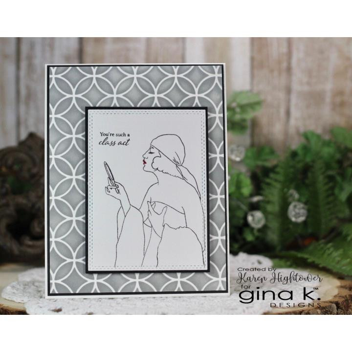 Art Deco, Gina K Designs Stencils - 609015540978