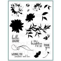 Layered Daisies, Gina K Designs Clear Stamps - 609015542439