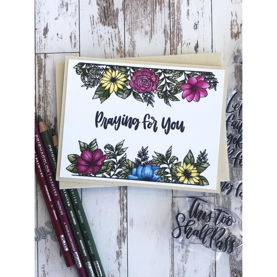 Whimsical Wildflower Frame, Gina K Designs Clear Stamps - 609015541272