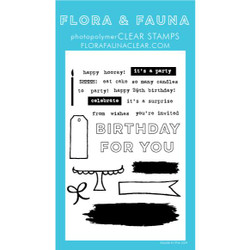 Brush Birthday, Flora & Fauna Clear Stamps - 725835782630