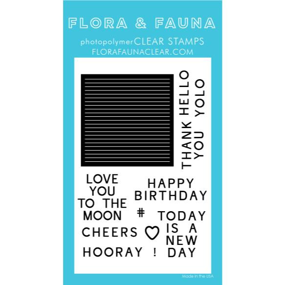 Letterboard, Flora & Fauna Clear Stamps - 725835782661