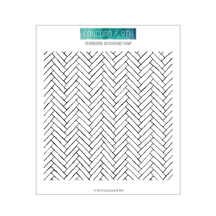 Herringbone Background, Concord & 9th Clear Stamps - 090222400436