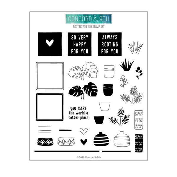 Rooting For You, Concord & 9th Clear Stamps - 090222400450