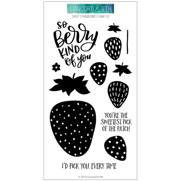 Sweet Strawberries, Concord & 9th Clear Stamps - 090222400504