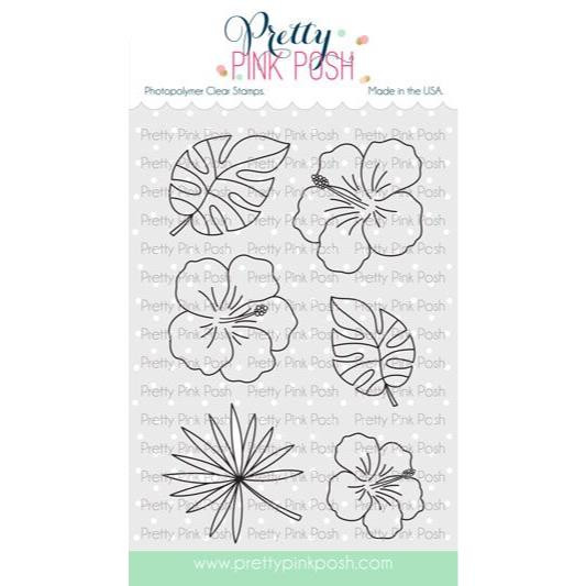 Hibiscus Flowers, Pretty Pink Posh Clear Stamps -