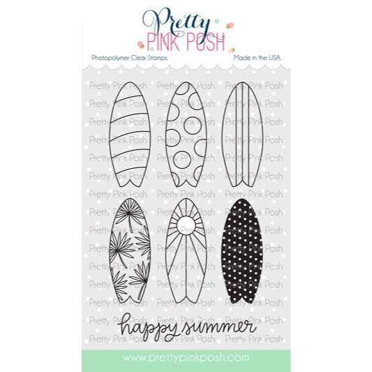 Summer Surfboards, Pretty Pink Posh Clear Stamps -