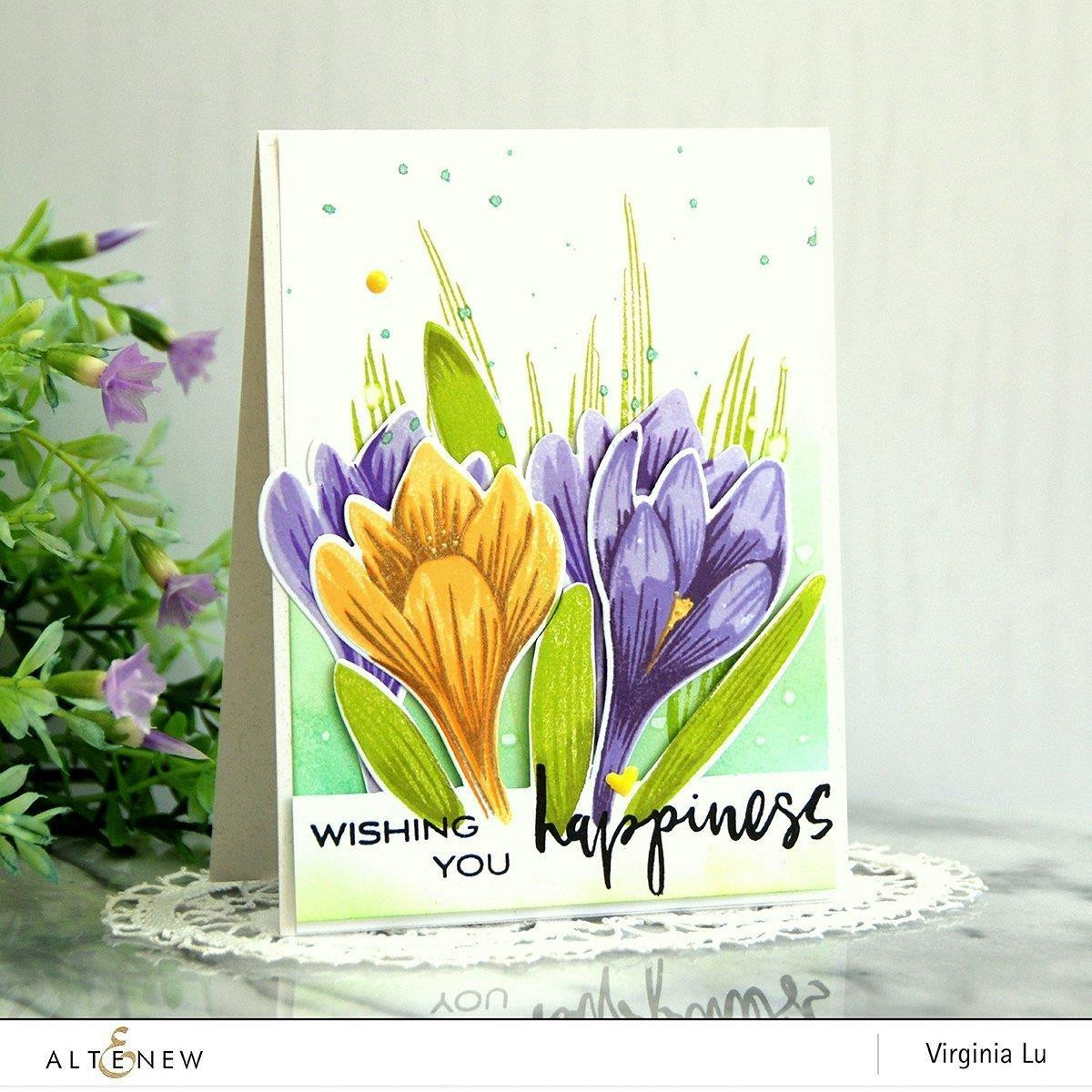 Build-A-Flower Crocus, Altenew Stamp and Die - 704831301533