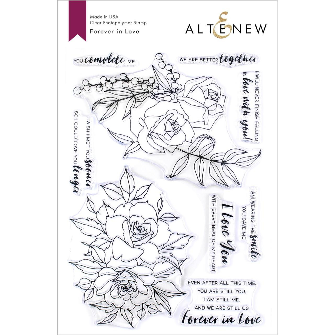 Forever In Love, Altenew Clear Stamps - 704831301564