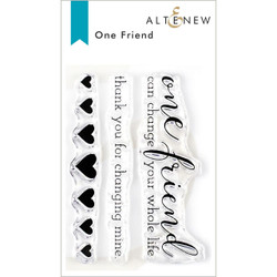 One Friend, Altenew Clear Stamps - 704831301625