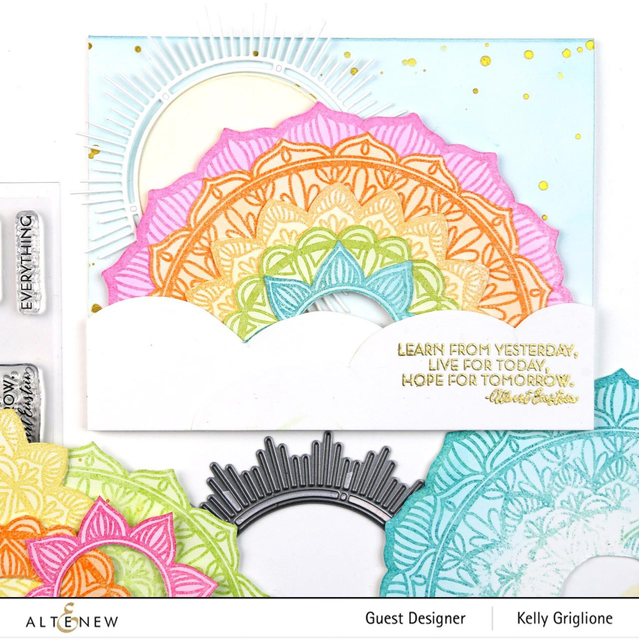 Pen Sketch Mandala, Altenew Clear Stamps - 704831301694