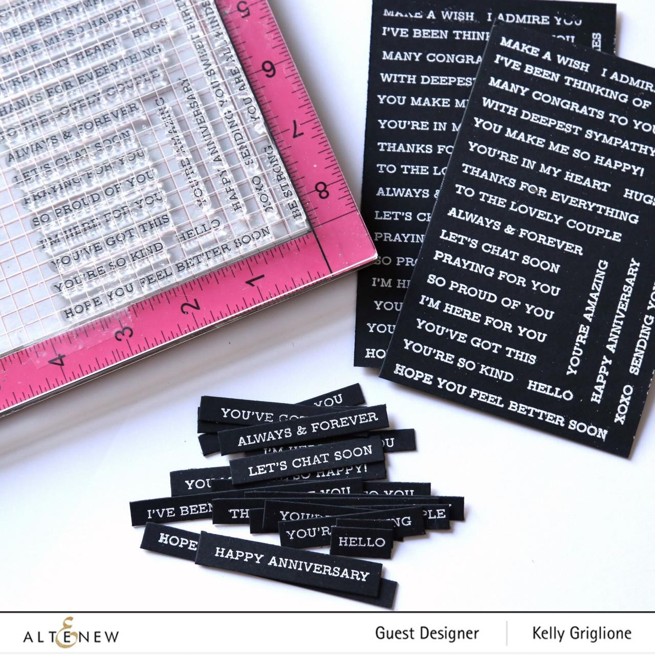 Sentiment Strips, Altenew Clear Stamps - 704831301700