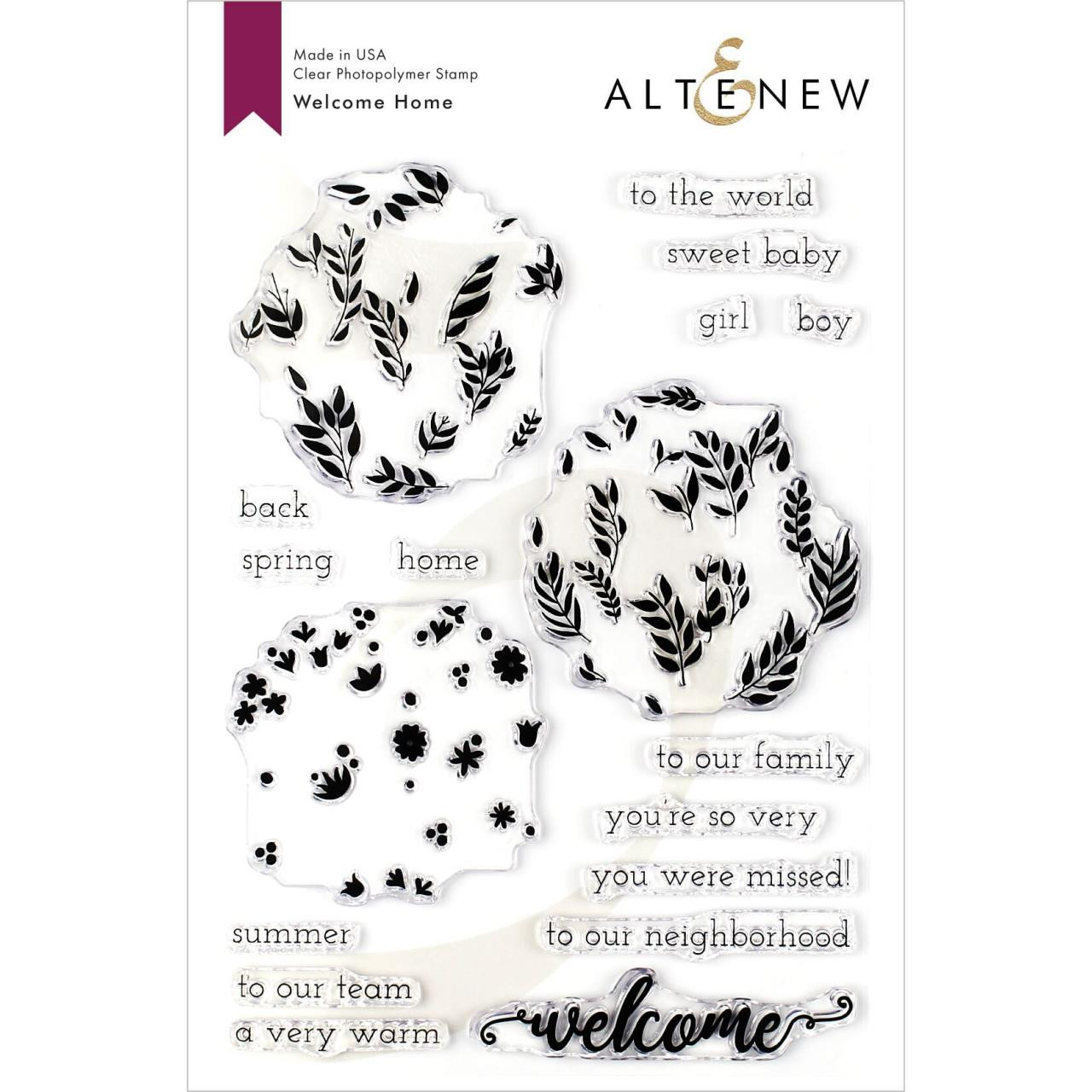 Welcome Home, Altenew Clear Stamps - 704831301762