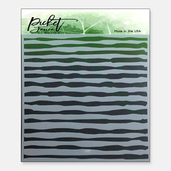 Watercolor Brush Strokes, Picket Fence Studios Stencils -