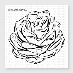 Desert Succulent, Picket Fence Studios Clear Stamps -