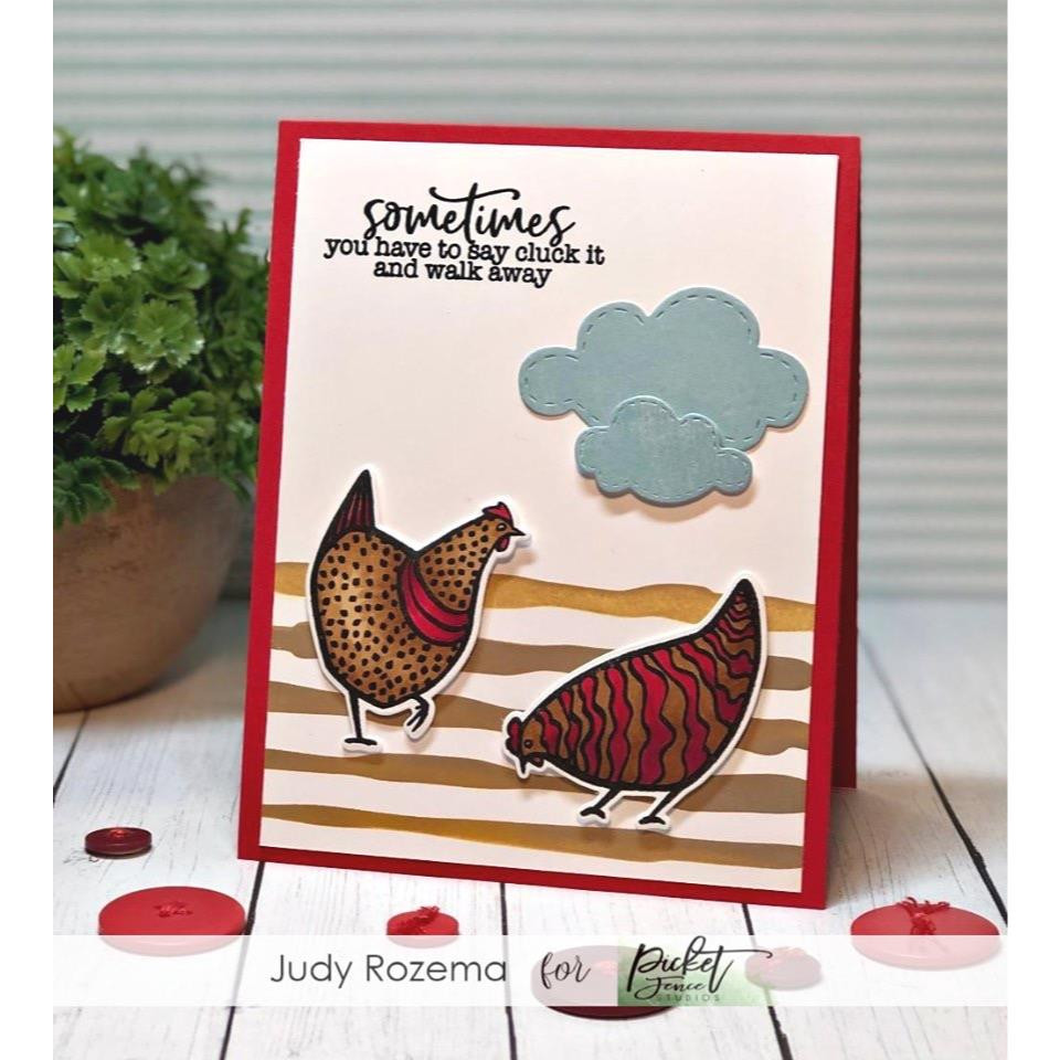 One Hot Chick, Picket Fence Studios Clear Stamps -