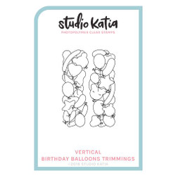 Birthday Balloons Vertical, Studio Katia Clear Stamps -