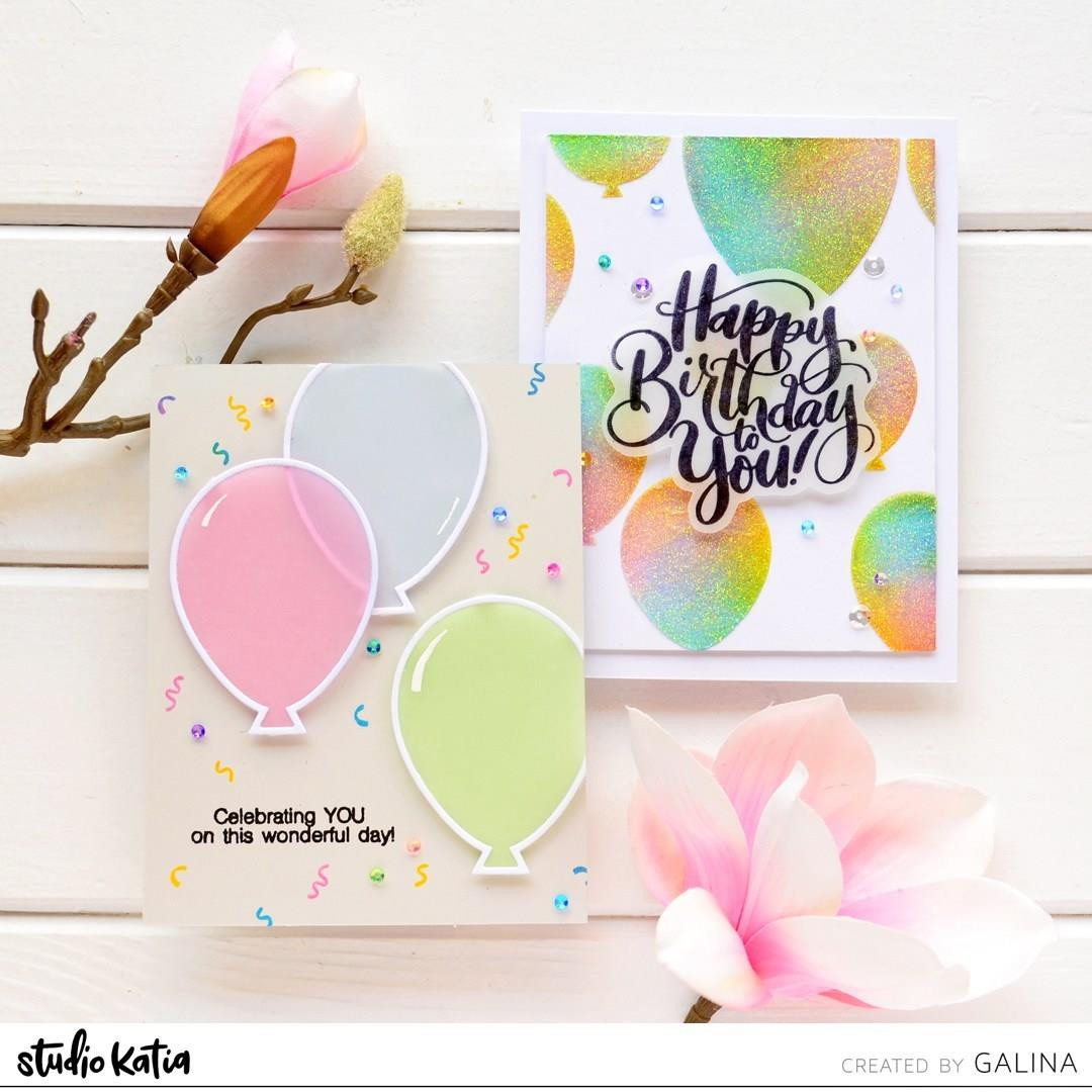 It's Your Birthday, Studio Katia Clear Stamps -