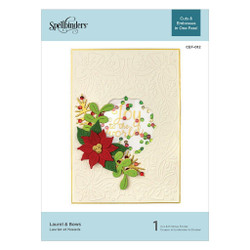 Laurel & Bows, Spellbinders Cut & Emboss Folders - 879216009592