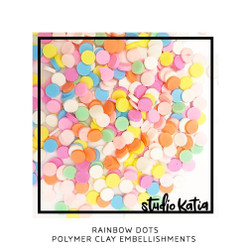 Rainbow Dots, Studio Katia  Embellishments -
