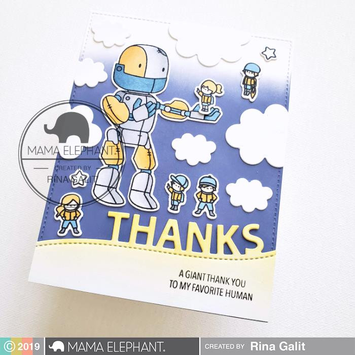 Me And My Robot, Mama Elephant Clear Stamps -