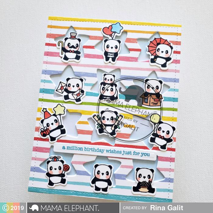 Star Grid Window, Mama Elephant Creative Cuts -