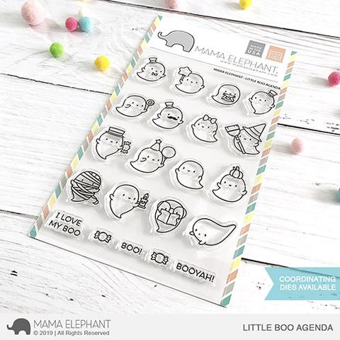 Little Boo Agenda, Mama Elephant Clear Stamps -