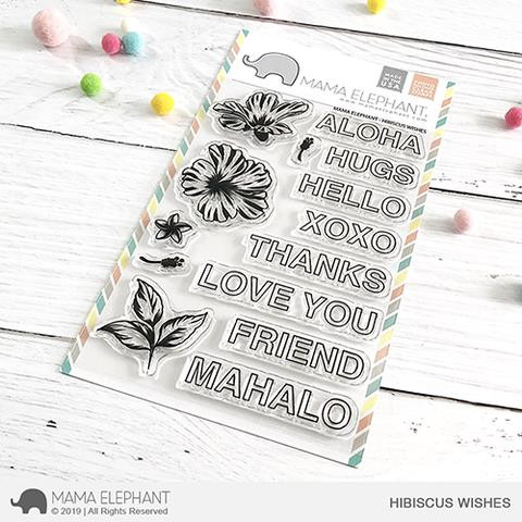 Hibiscus Wishes, Mama Elephant Clear Stamps -
