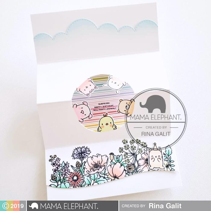 Circle Of Friends, Mama Elephant Clear Stamps -
